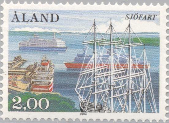 Аланды, почта, марки