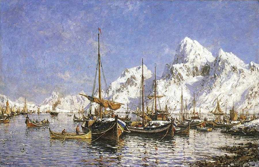 Gunnar_Berg_Fra_Svolvær_havn