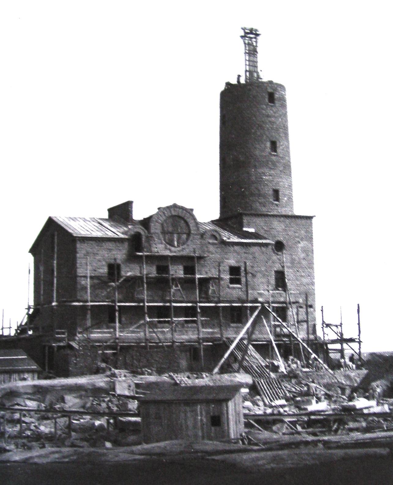 Строительство маяка Бенгштер.