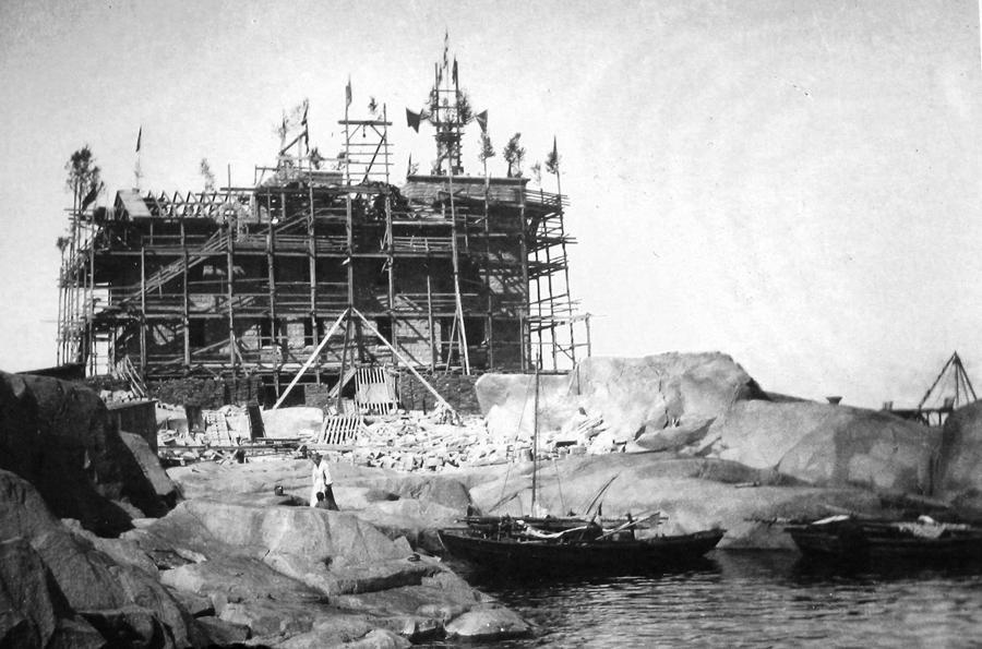 Строительство маяка Бенгштер. Фото 11.08.1906.