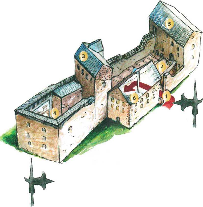 План замка Кастельхольм